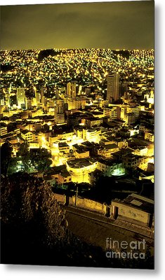 La Paz Cityscape Bolivia Metal Print by Ryan Fox