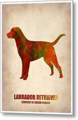 Labrador Retriever Poster Metal Print by Naxart Studio