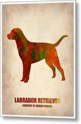 Labrador Retriever Poster Metal Print by Naxart Studio