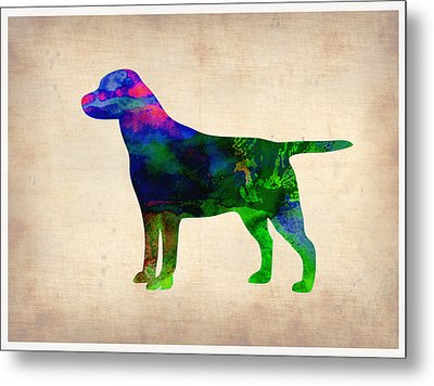 Labrador Retriever Watercolor 2 Metal Print by Naxart Studio