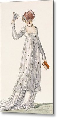 Ladies Evening Dress, Fashion Plate Metal Print