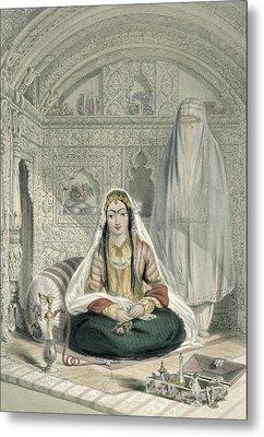 Ladies Of Caubul In Their In Metal Print