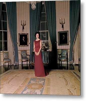 Lady Bird Johnson In The White House Metal Print by Horst P. Horst
