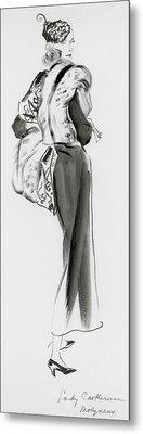 Lady Castlerosse Wearing Molyneux Metal Print