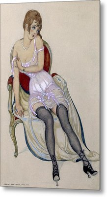 Lady In Underwear, 1917 Metal Print