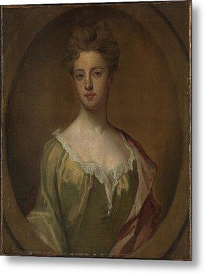 Lady Mary Berkeley, Wife Of Thomas Metal Print by Sir Godfrey Kneller