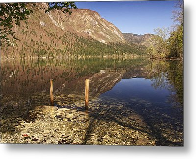 Metal Print featuring the photograph Lake Bohinj by Graham Hawcroft pixsellpix