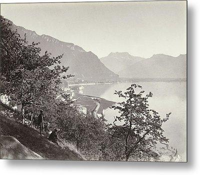 Lake Geneva And Dent Du Midi, Switzerland Metal Print by Artokoloro