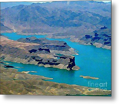 Lake Mead Aerial Shot Metal Print by John Malone