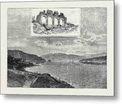Lake Mjsen And The Ruins Of Hamar Cathedral Metal Print