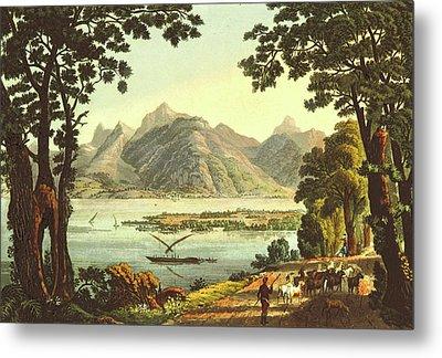 Lake Of Geneva, 19th Century Metal Print by Litz Collection