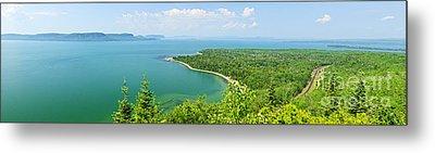 Lake Superior Panorama Metal Print by Elena Elisseeva