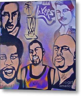 Lakers Love Jerry Buss 1 Metal Print by Tony B Conscious