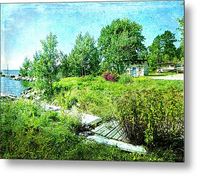 Lakeside Charm Metal Print by Dianne  Lacourciere