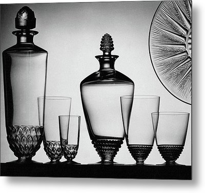 Lalique Glassware Metal Print by The 3