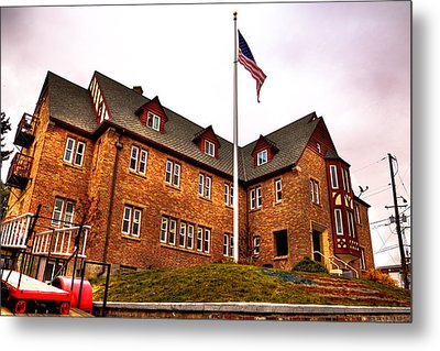 Lambda Chi Alpha Fraternity On The Wsu Campus Metal Print by David Patterson