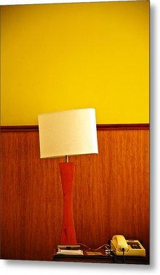 Lamp And Desk Metal Print by Jess Kraft