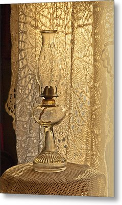 Metal Print featuring the photograph Lamp By The Window by Lena Wilhite