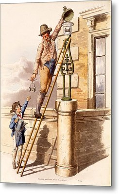 Lamp Lighter, From The Costumes Metal Print by William Henry Pyne