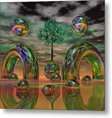 Land Of World 8624036 Metal Print by Betsy Knapp