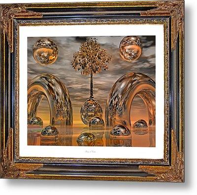 Land Of World 8624042 Framed Metal Print by Betsy Knapp