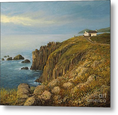 Land's End In Cornwall Metal Print by Kiril Stanchev