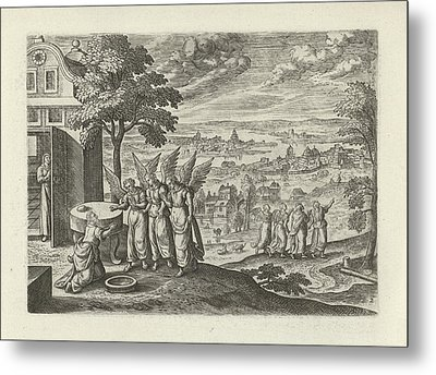 Landscape With Abraham And The Three Angels Metal Print