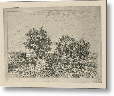 Landscape With Shepherd, Jan Van Lokhorst Metal Print by Jan Van Lokhorst
