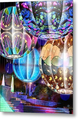 Lanterns - Luminaria Collection Metal Print