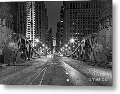 Lasalle St - Chicago Metal Print by Jeff Lewis