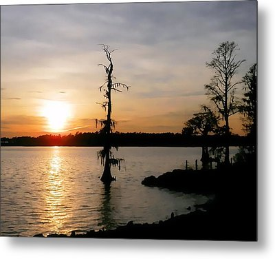 Metal Print featuring the photograph Last Sunset Of 2012 by Victor Montgomery