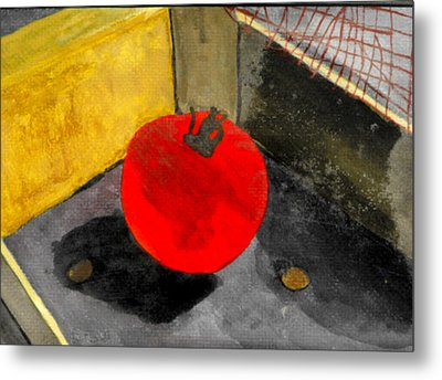 Last Tomato Metal Print by Larry Farris