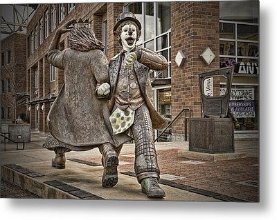 Late For Interurban  Metal Print by Joanna Madloch