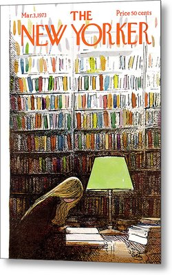 Late Night At The Library Metal Print by Arthur Getz