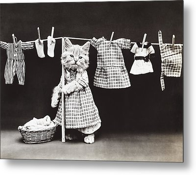 Laundry Day Metal Print by Aged Pixel