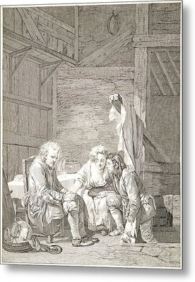 Laurent Cars French, 1699-1771 After Jean-baptiste Greuze Metal Print by Litz Collection