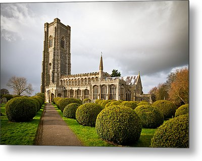 Lavenham Church Metal Print by Tom Gowanlock