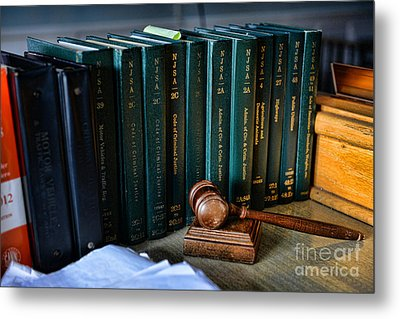 Lawyer - The Code Of Criminal Justice Metal Print by Paul Ward