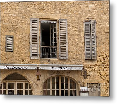 Metal Print featuring the photograph Le Bistro Restaurant by Paul Topp