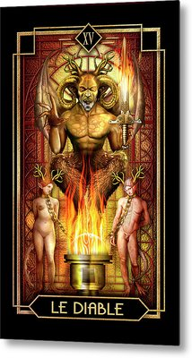Metal Print featuring the drawing Le Diable by Ciro Marchetti