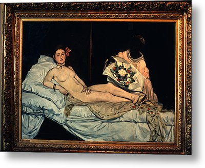 Le Grande Odalisque By Ingre Metal Print by Carl Purcell