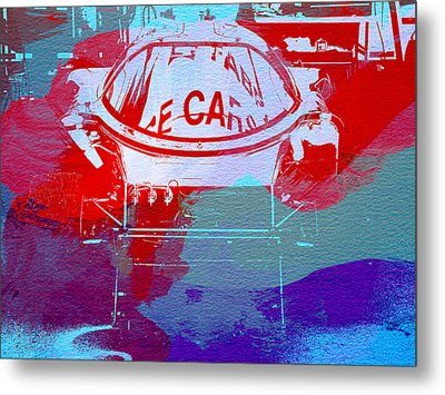 Le Mans Racer During Pit Stop Metal Print by Naxart Studio