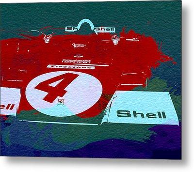 Le Mans Racing Car Detail Metal Print by Naxart Studio