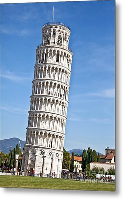 Leaning Tower Of Pisa Metal Print by Liz Leyden