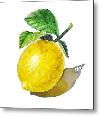 Artz Vitamins The Lemon Metal Print by Irina Sztukowski