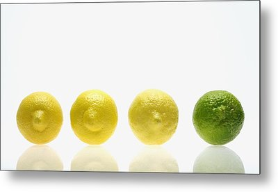 Lemons And Lime Metal Print by Kelly Redinger