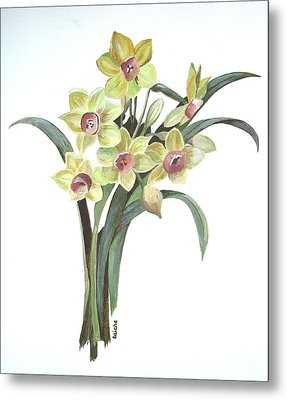 Lent Lily Metal Print by Tracey Harrington-Simpson
