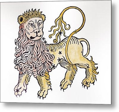 Leo An Illustration From The Poeticon Metal Print by Italian School