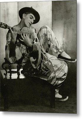 Leonide Massine In Costume For The Ballet Russes Metal Print
