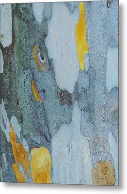 Leopard Tree Bark Abstract No 1 Metal Print